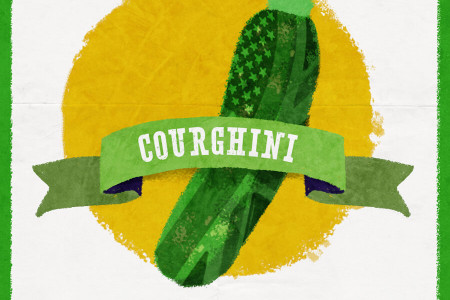 Transatlantic Foods: Courghini Infographic