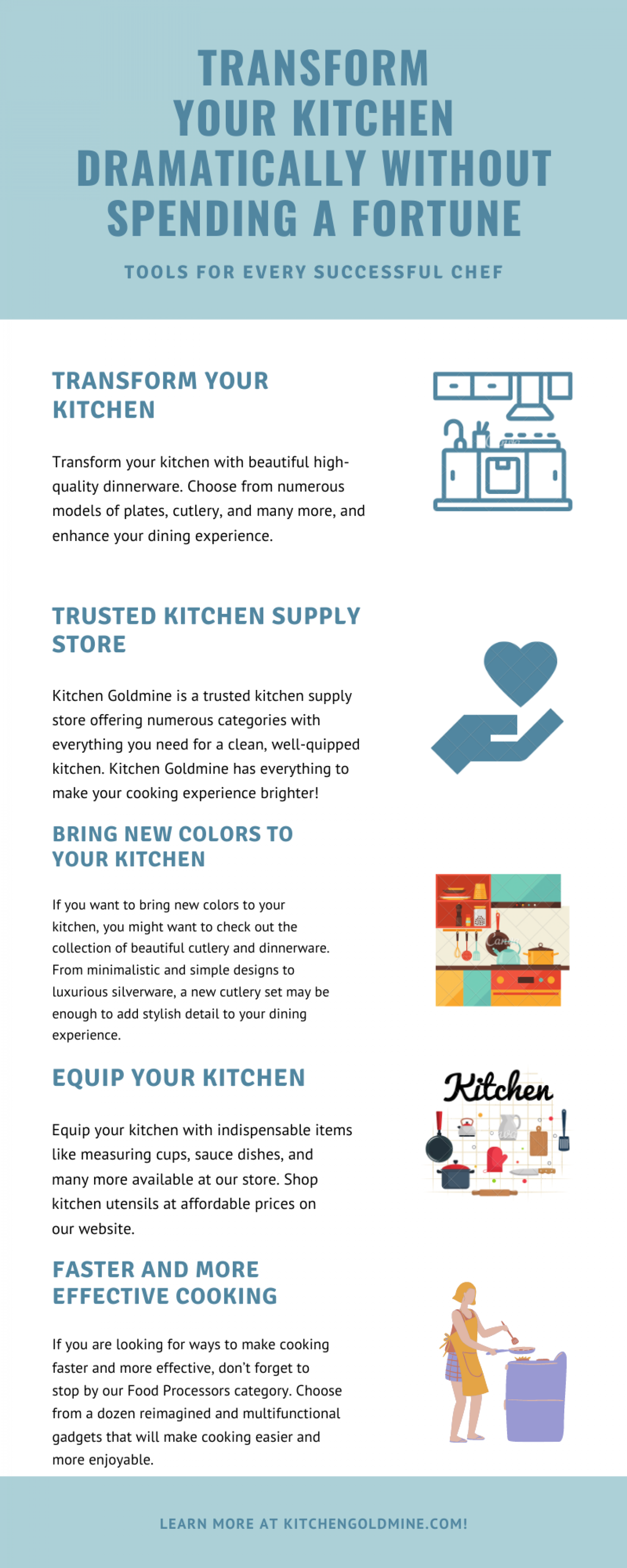 Transform Your Kitchen Dramatically Without Spending a Fortune Infographic