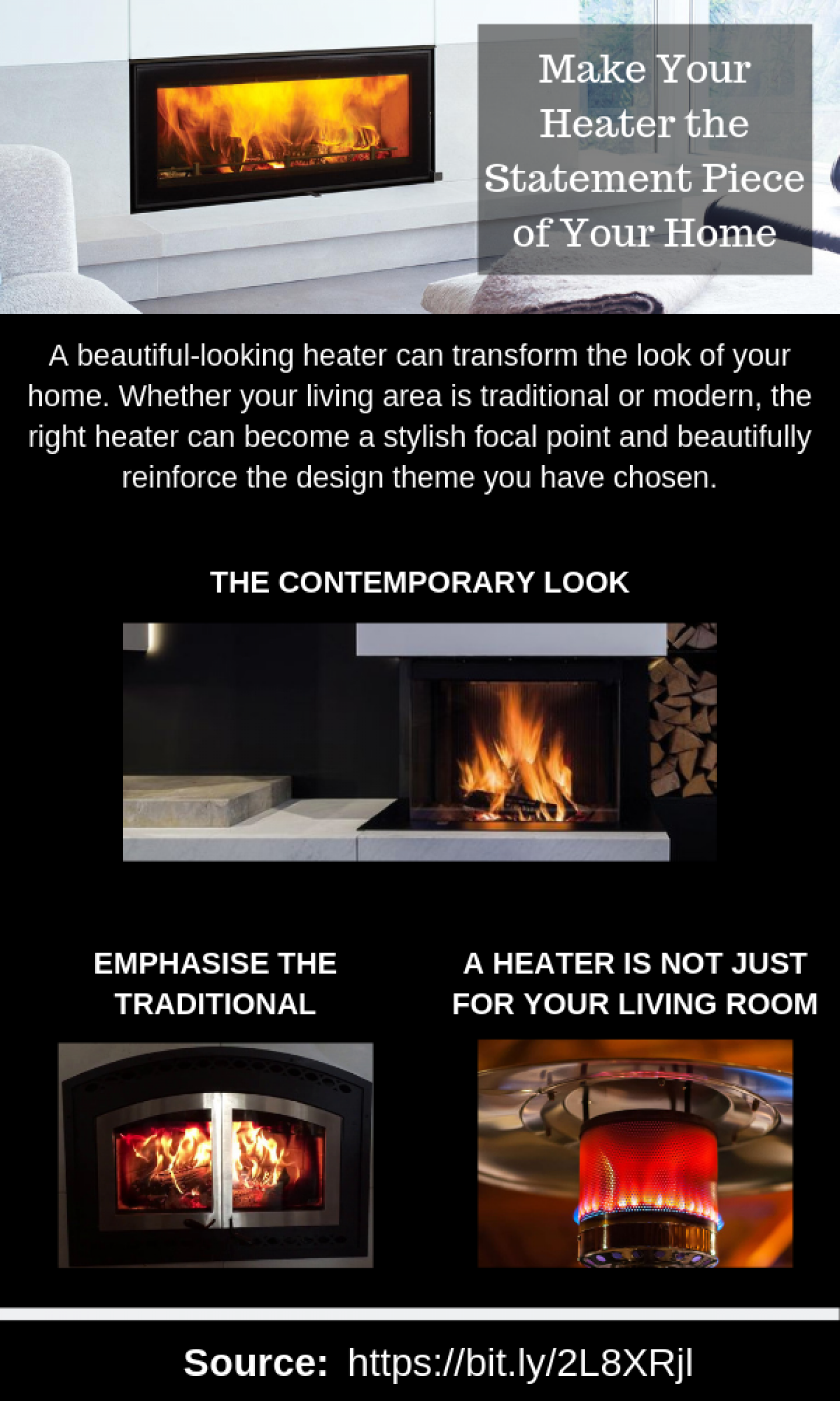 Transform Your Living Room With A  Beautiful Wood Heater Infographic