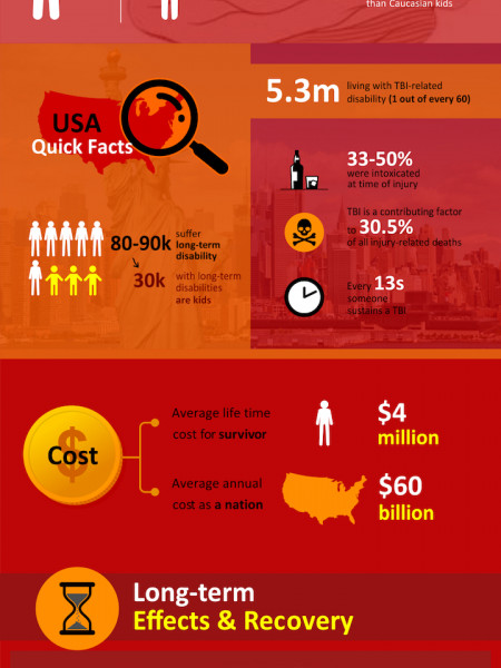 Traumatic Brain Injury Statistics  Infographic