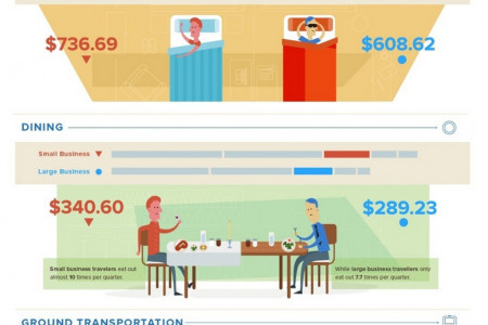 Travel and Entertainment Spending in Businesses Infographic