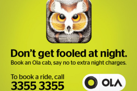 Travel in Olacabs taxi in Delhi at Night with zero extra charges Infographic