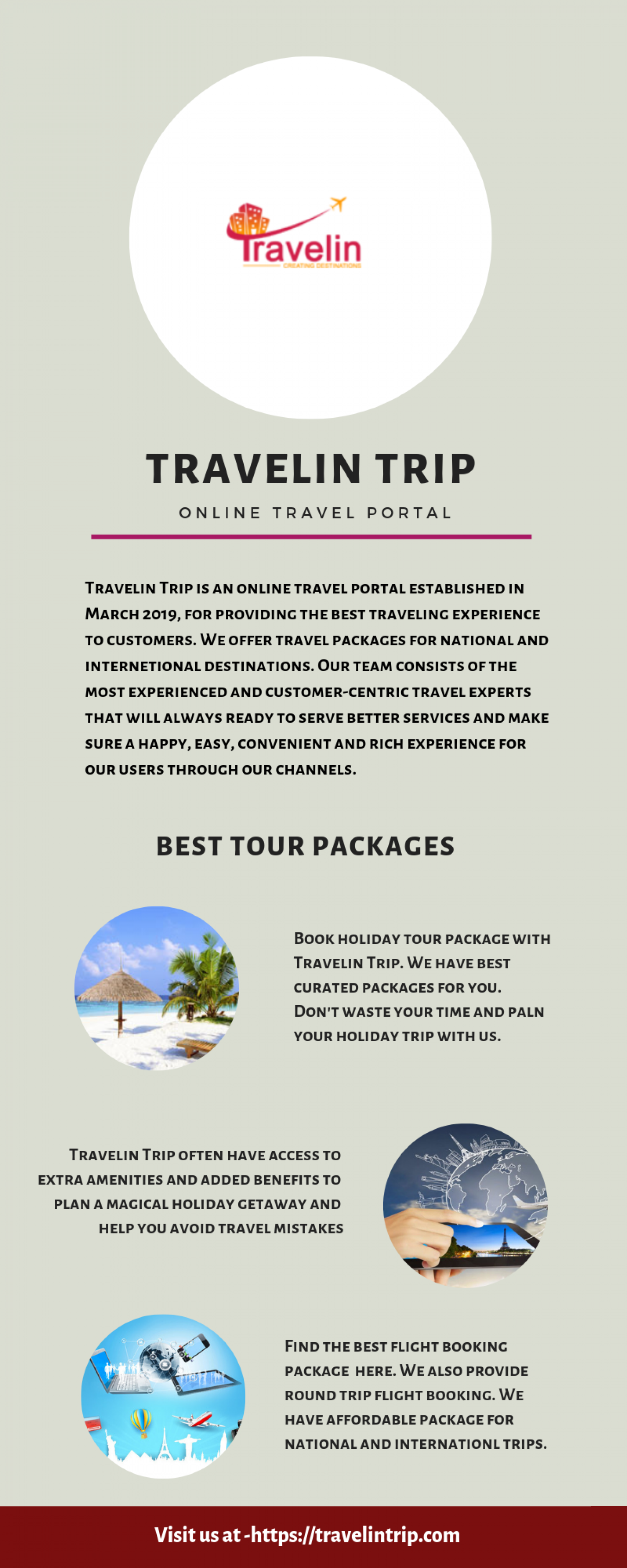 Travelin Trip - The Best Travel Portal Infographic