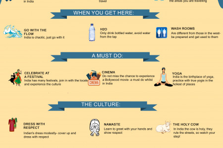 Traveling India Infographic