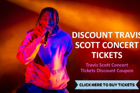 Travis Scott Concert Tickets Coupon Infographic