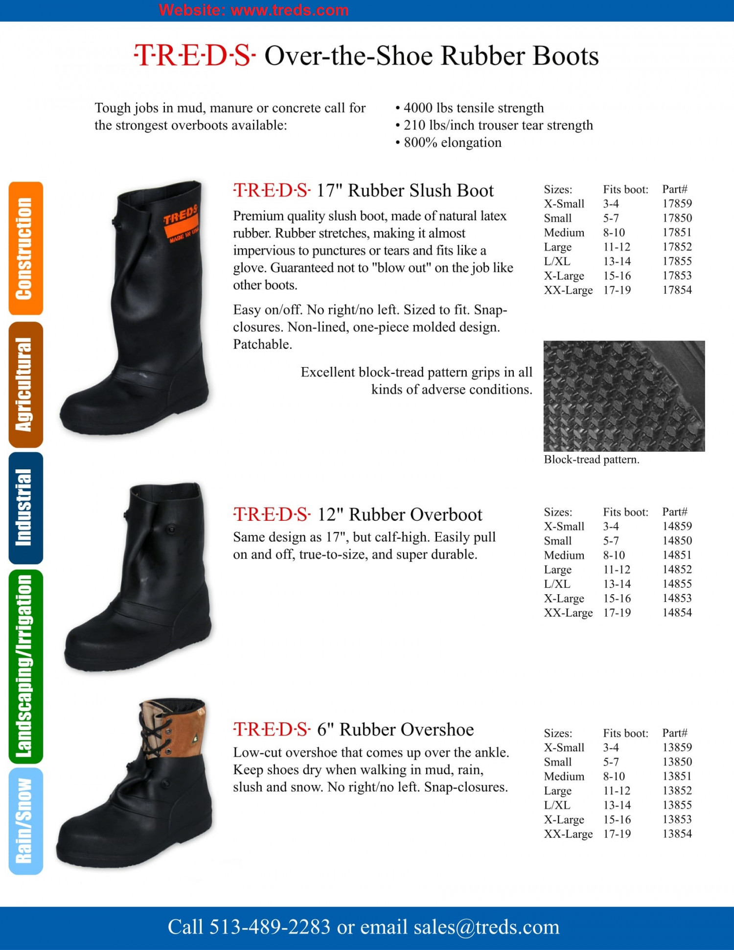 TREDS Over-the-Shoe Rubber Boots