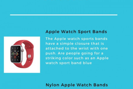 Trendy Sporty Bands for Your Apple Smartwatch Infographic