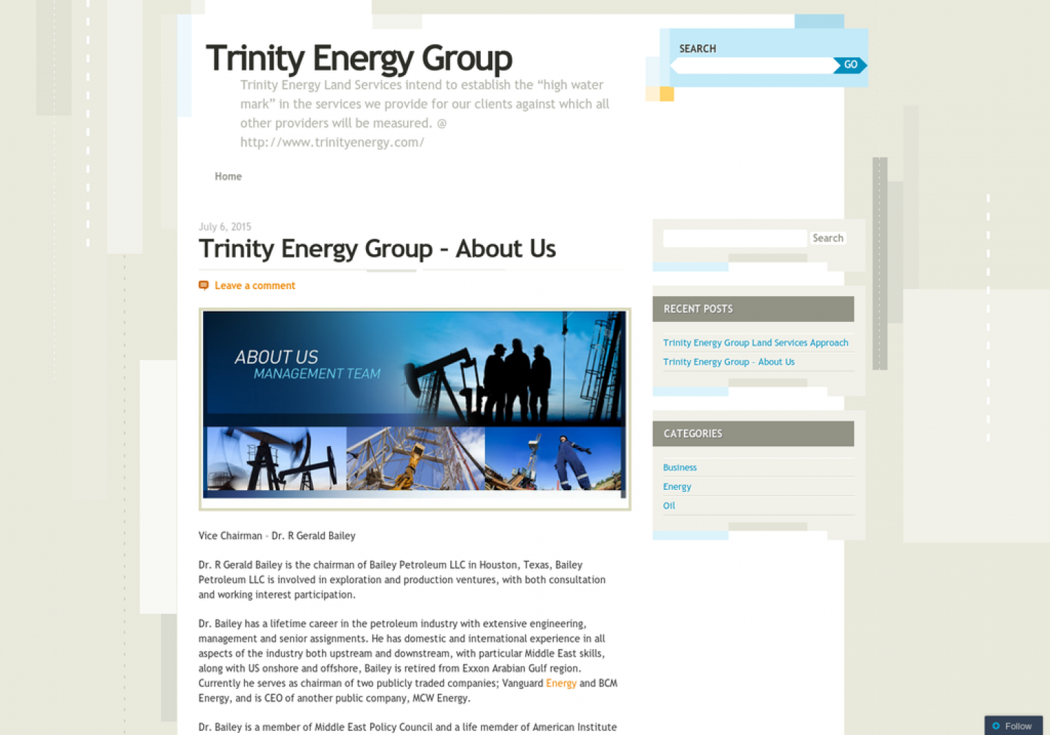 Trinity Energy Group – About Us Infographic