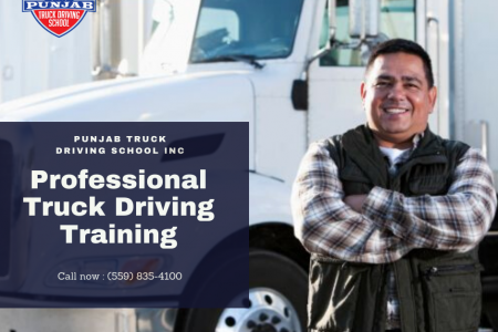 Truck Driving School in Fresno Infographic