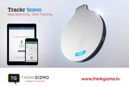 Try New TrackR Bravo GPS Tracker  Infographic