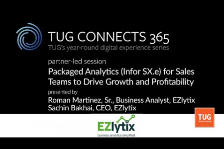 TUG Connects 365 Webinar -Packaged Analytics (SX.e) for Sales Teams to Drive Growth and Profitability Infographic