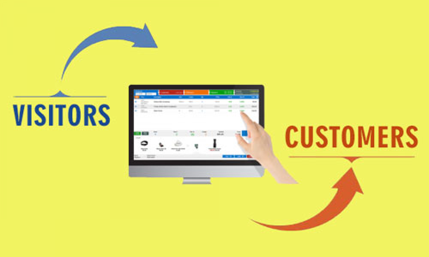 Turn visitors into customers using POS search Infographic