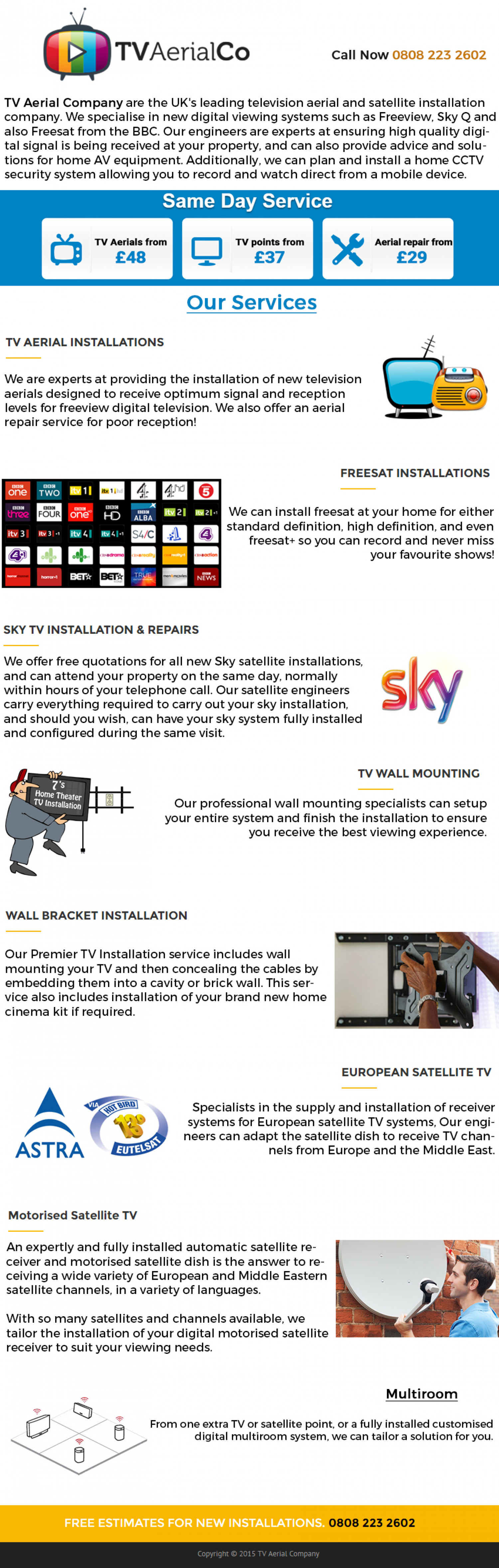 TV Aerial Company Infographics Infographic