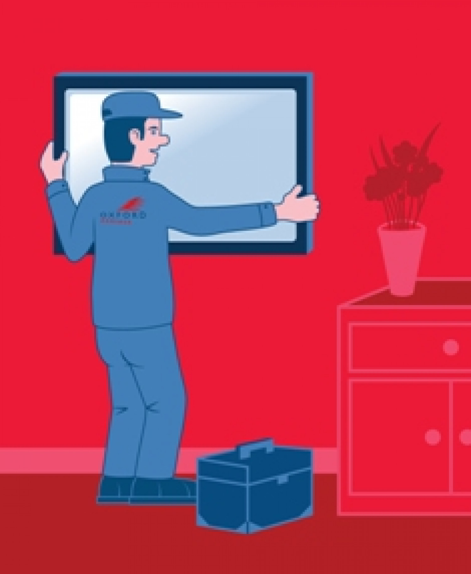 TV Installation Service with The Handy Guy Infographic