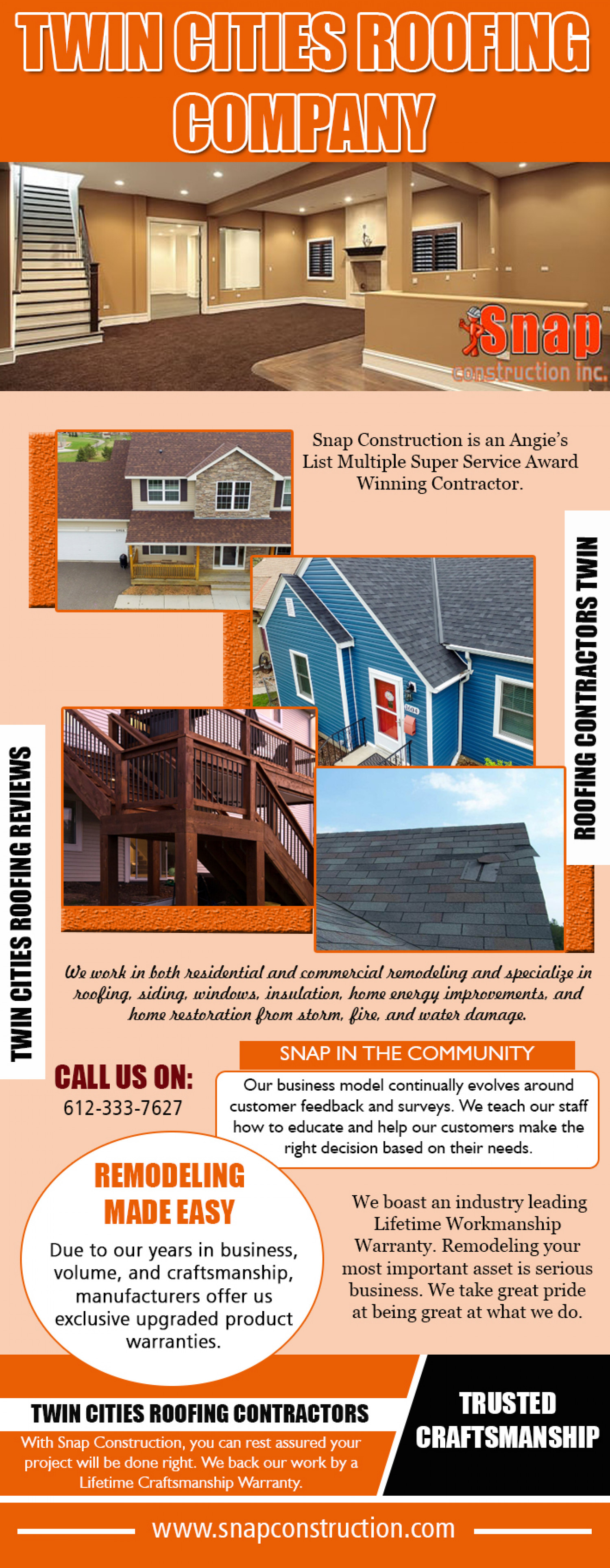 Twin Cities Roofing Company Infographic