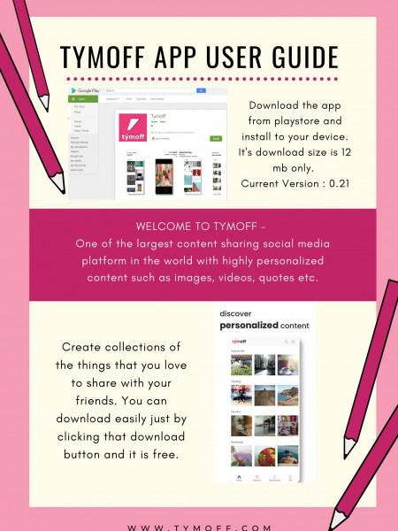 Tym Off App User Guide Infographic