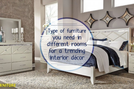 Type of Furniture You Need in Different Rooms for a Trending Interior Decor Infographic