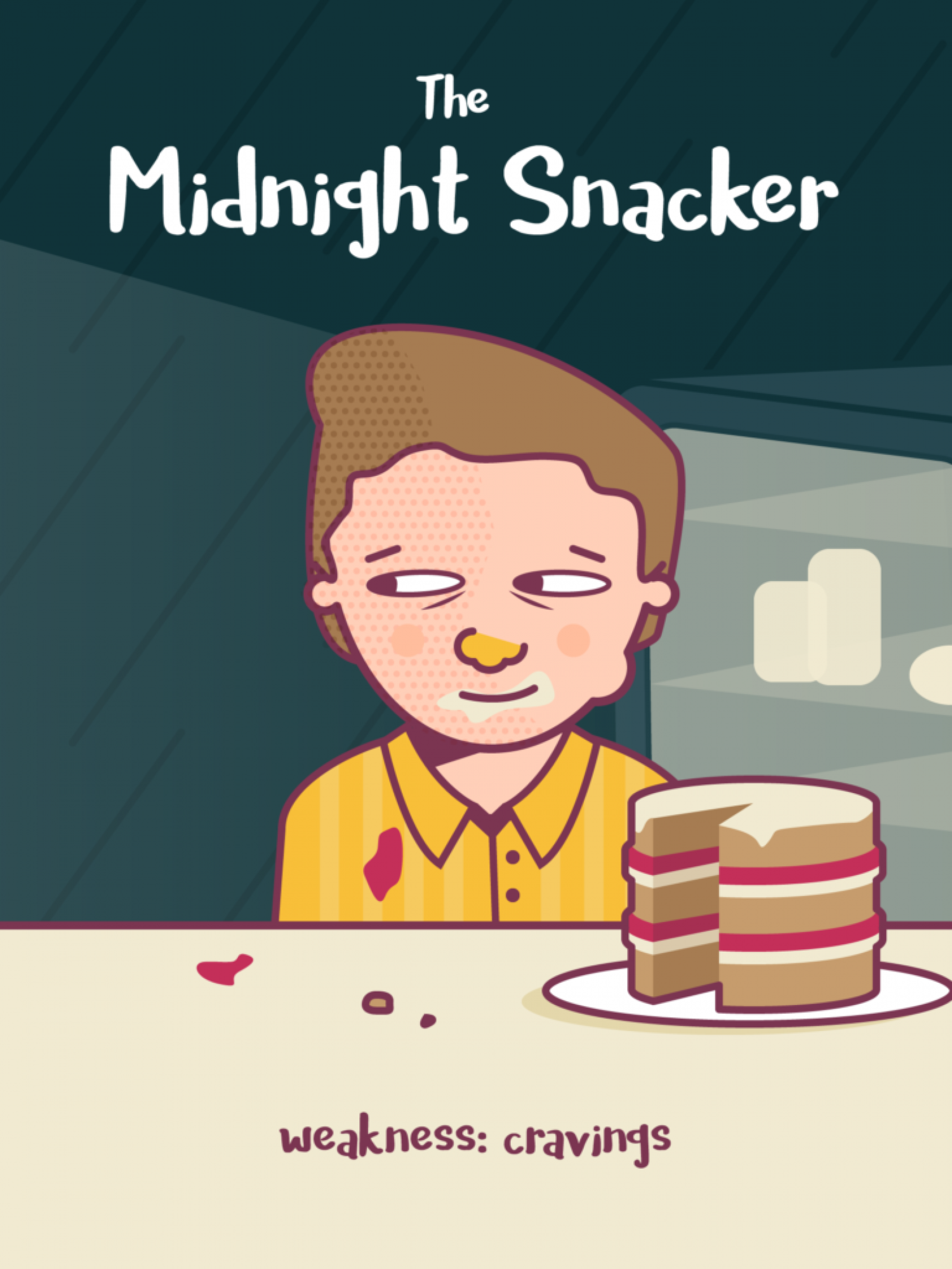 Types of Eater: Midnight Snacker Infographic