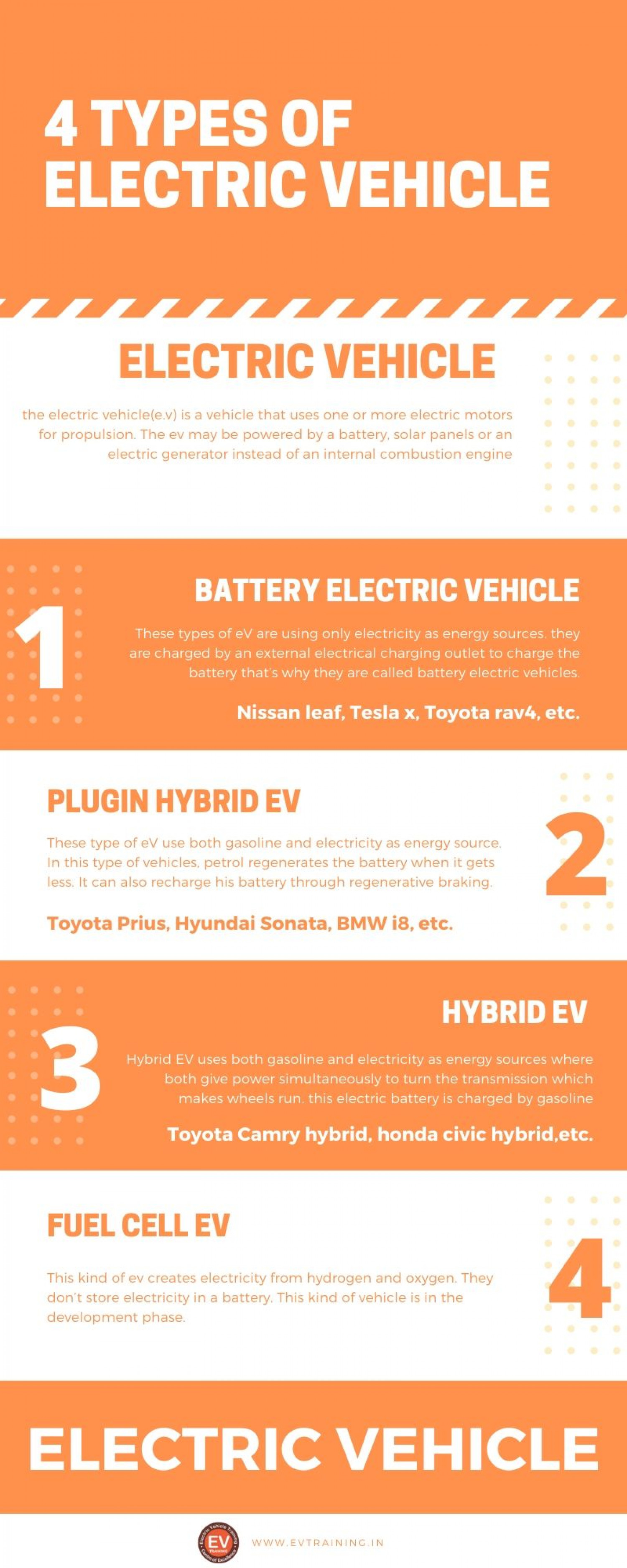Types of electric vehicle Infographic