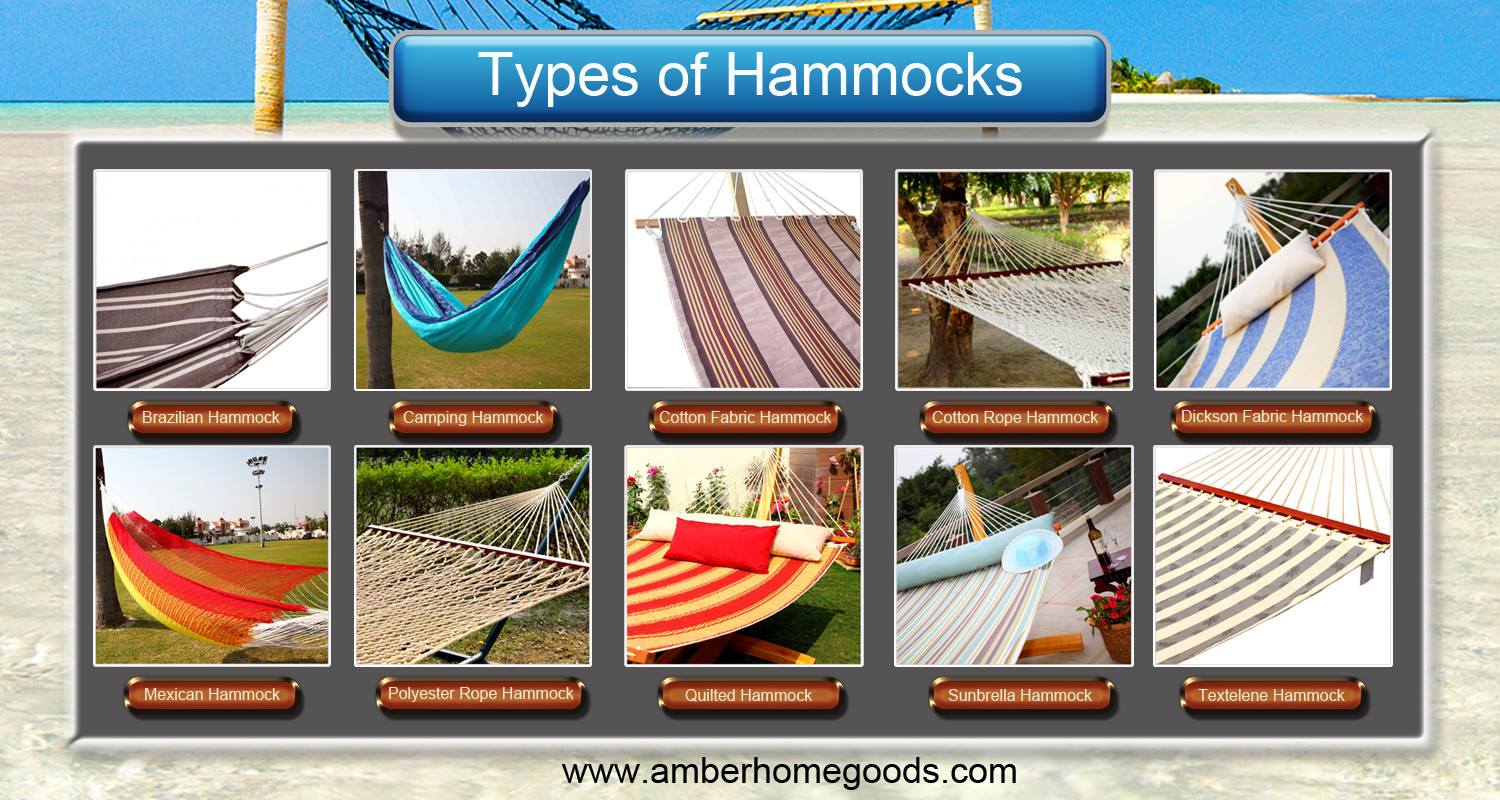 types of hammocks from amber home goods infographic types of hammocks from amber home goods   visual ly  rh   visual ly