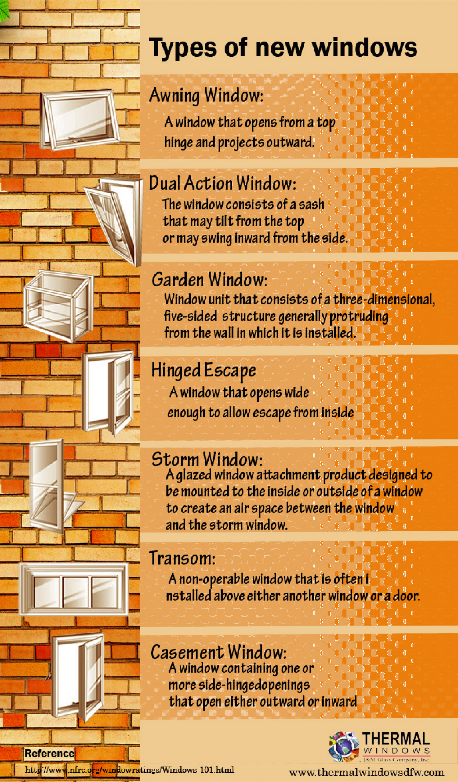 Types of new windows - An Infographics Infographic