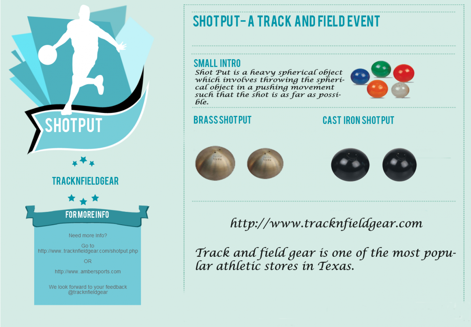 Types of Shot Put from Tracknfieldgear Infographic