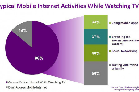 Typical Mobile Internet Activities While Watching TV Infographic