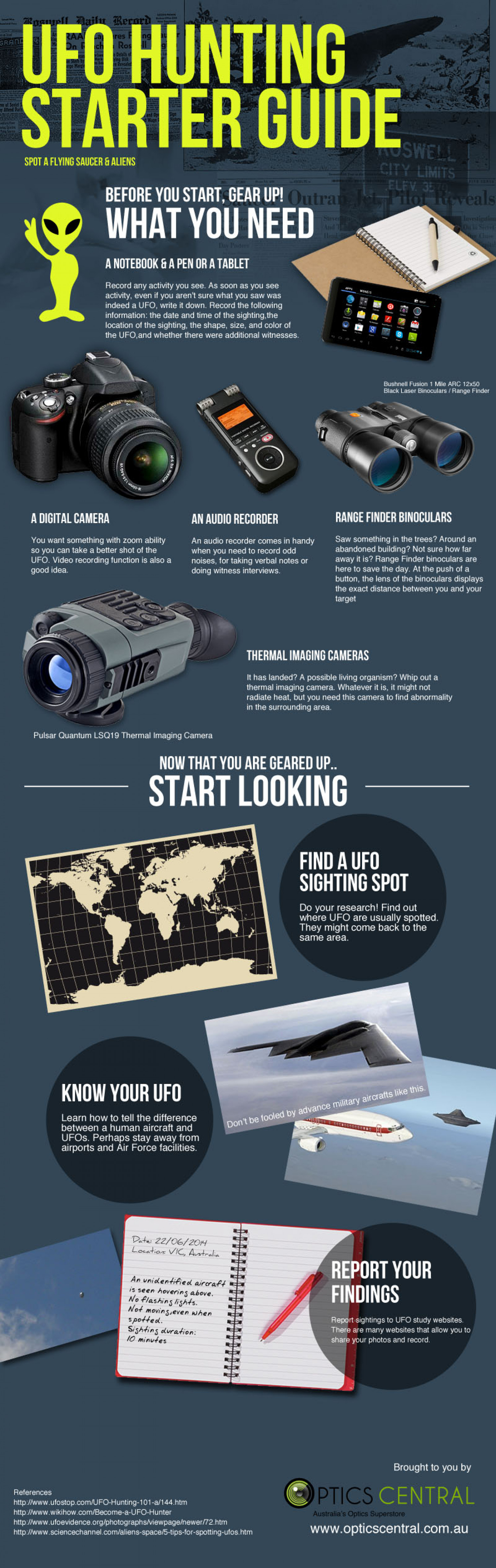 UFO Hunting Starter Guide Infographic