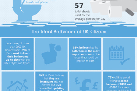 UK Bathroom: Habits and Safety - Infographics Infographic