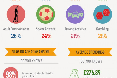UK Stag Do Ideas and Statistics Infographic