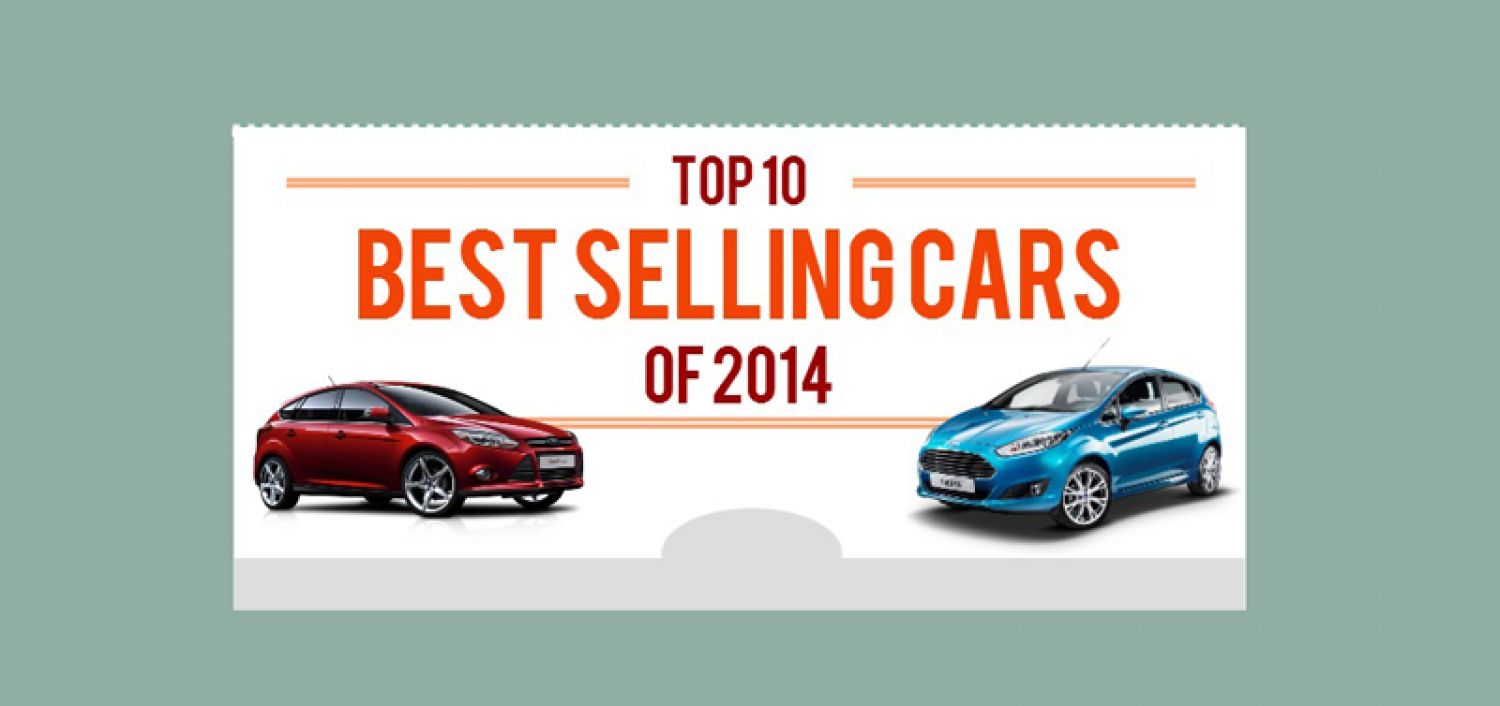 UK Top 10 Best Selling Cars 2014 Infographic