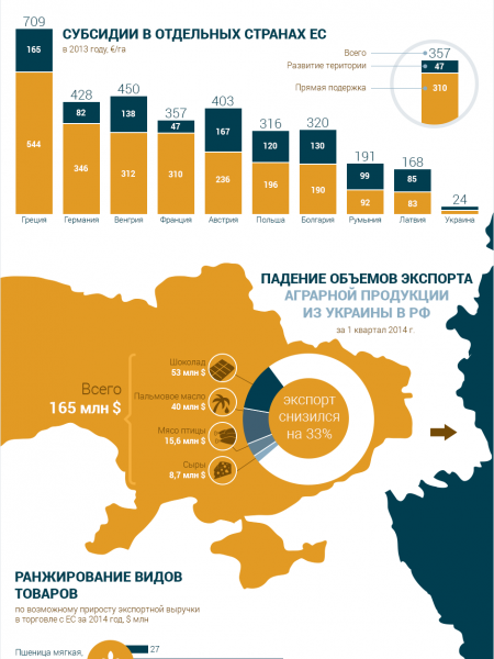 Ukraine and European Union Infographic
