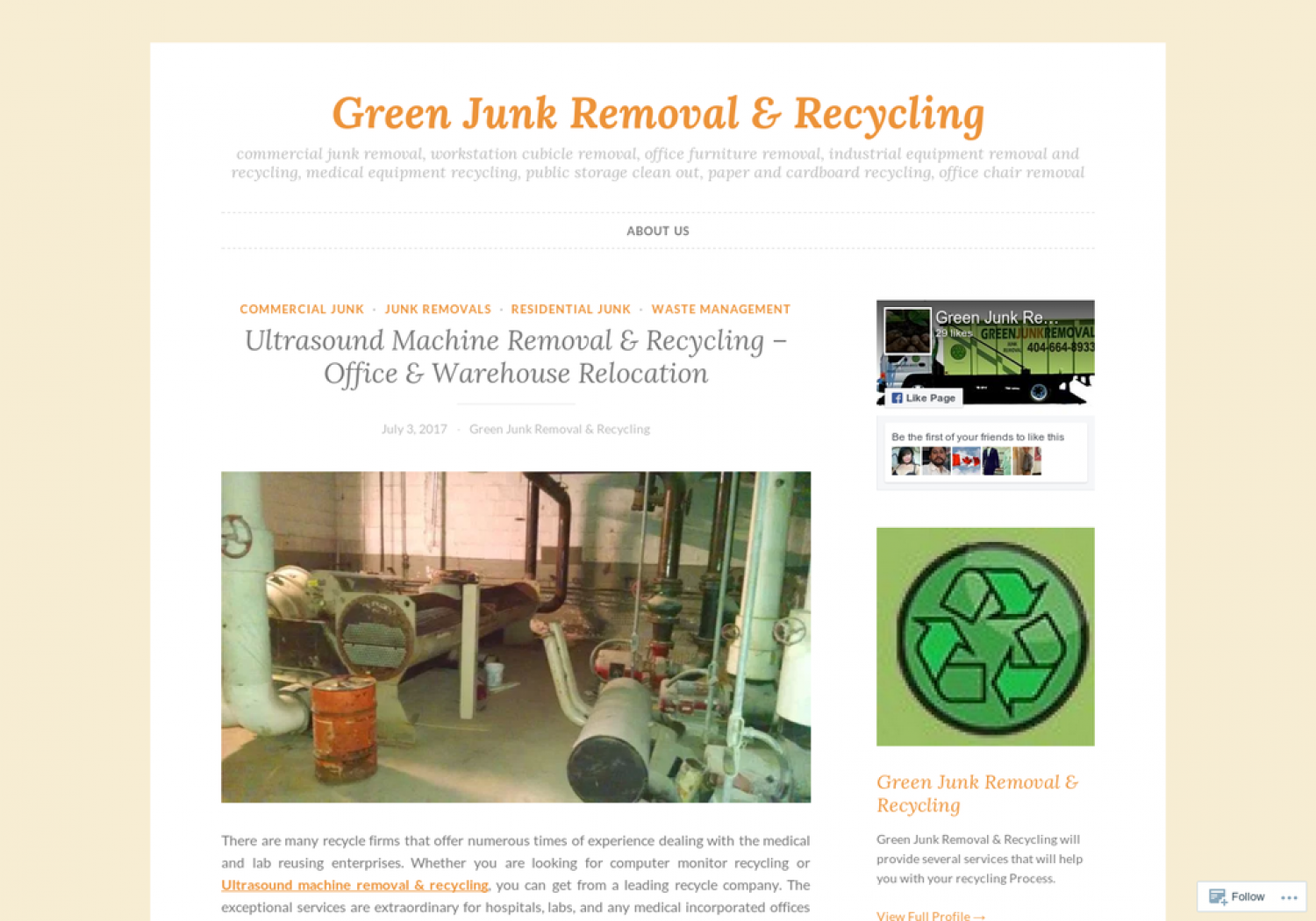 Ultrasound Machine Removal & Recycling Infographic