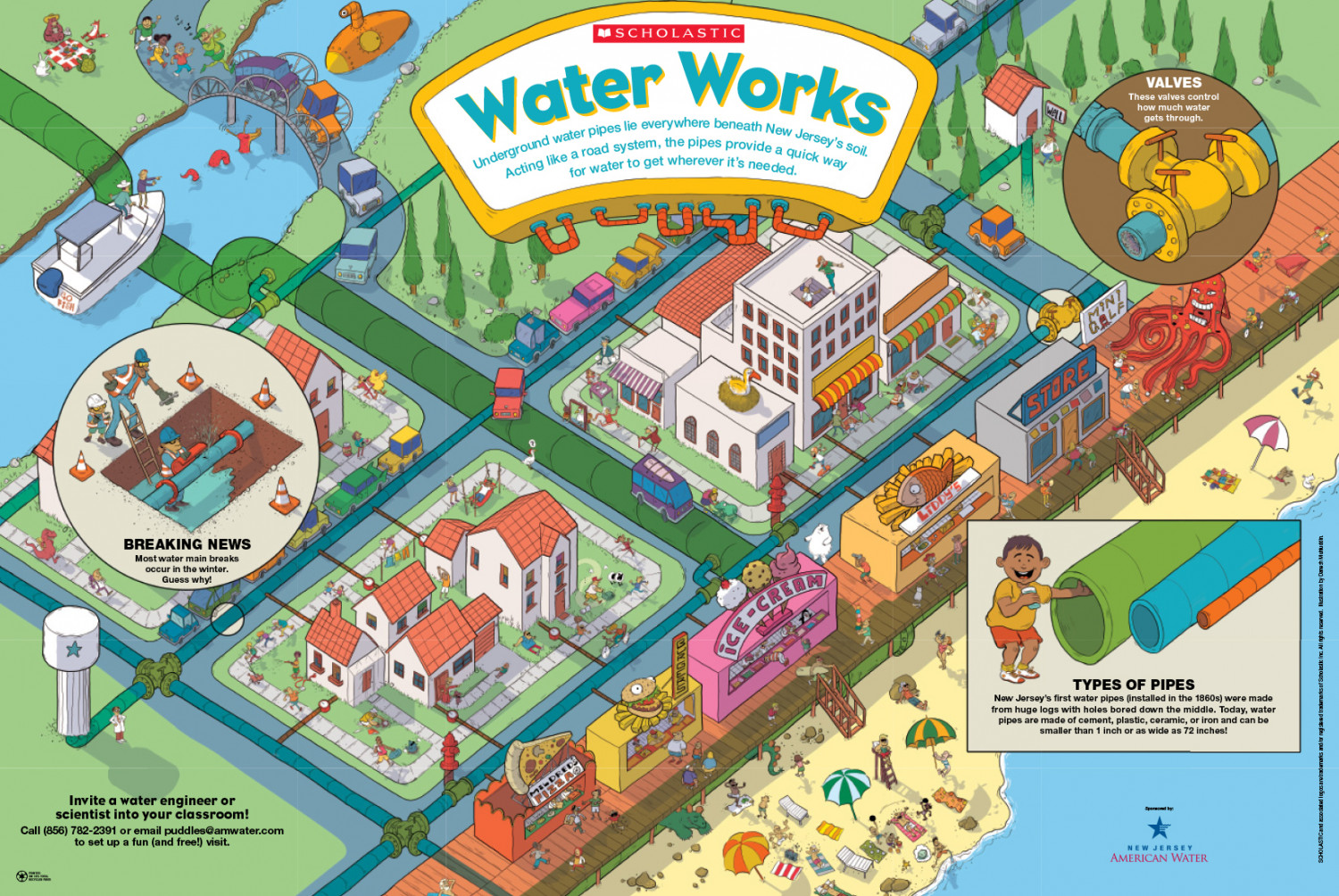 Underground Water Pipes in New Jersey Infographic