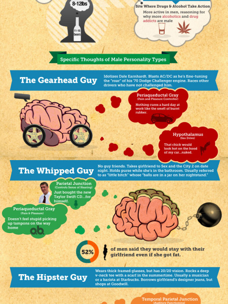 Understanding How The Male Brain Works...Or Doesn't Work Infographic