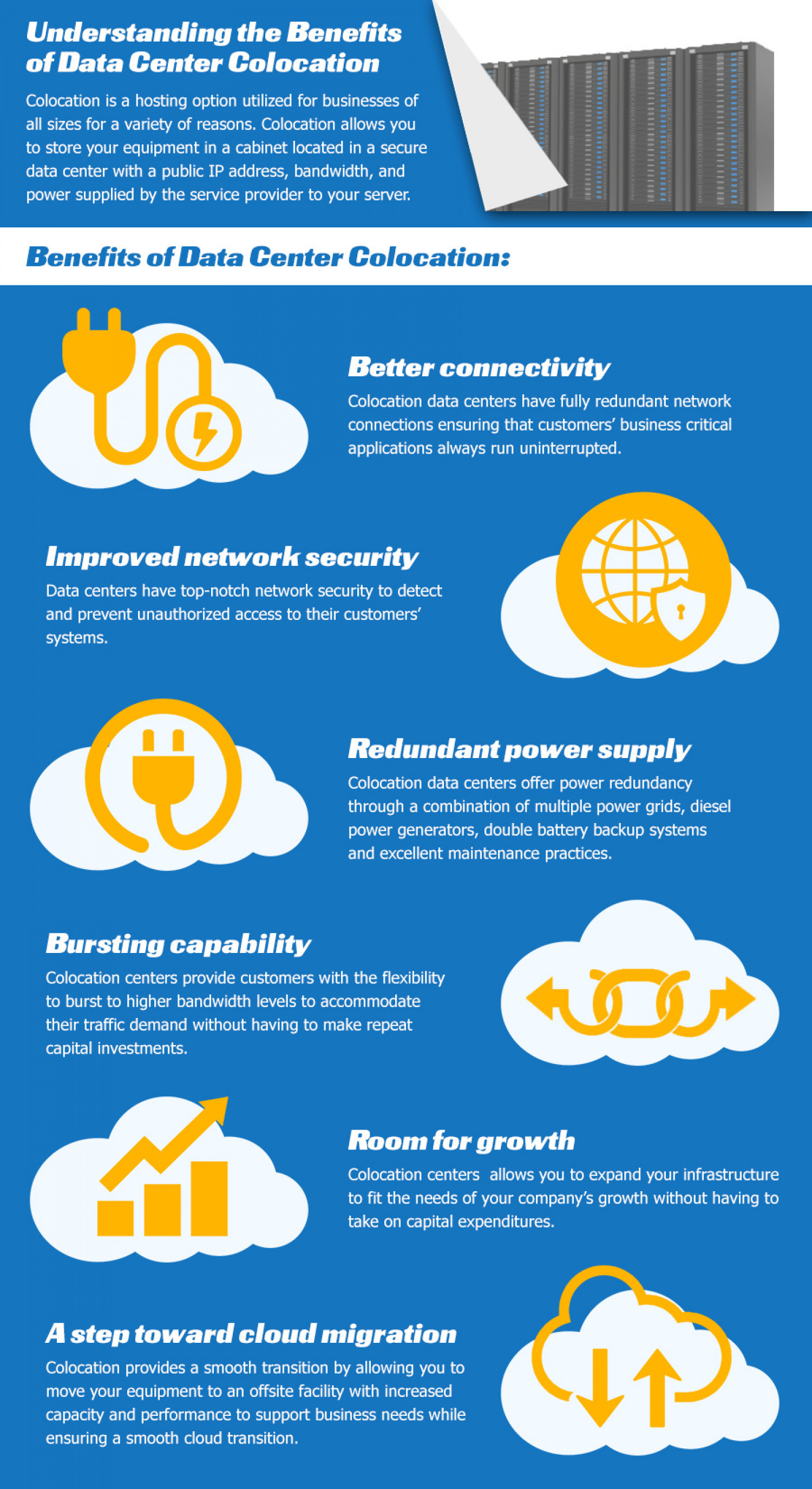 Understanding the Benefits of Data Center Colocation Infographic