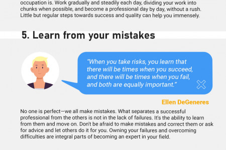 Unexpected Career Tips from Celebrities Infographic