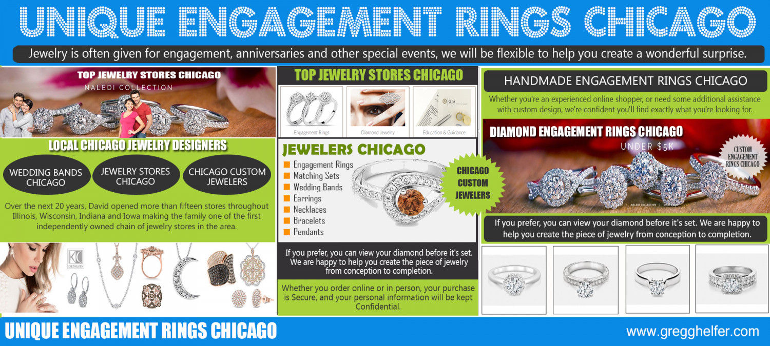 Unique Engagement Rings Chicago Infographic