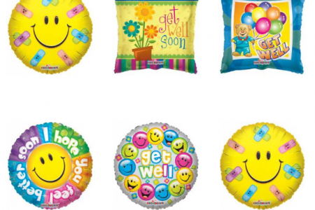 Unique Get Well Soon Balloons by Balloons Online Infographic