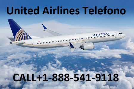 United Airlines Telefono +1-888-541-9118 Infographic