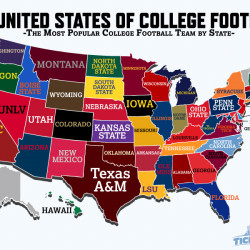 United States of College Football Map   Visual.ly