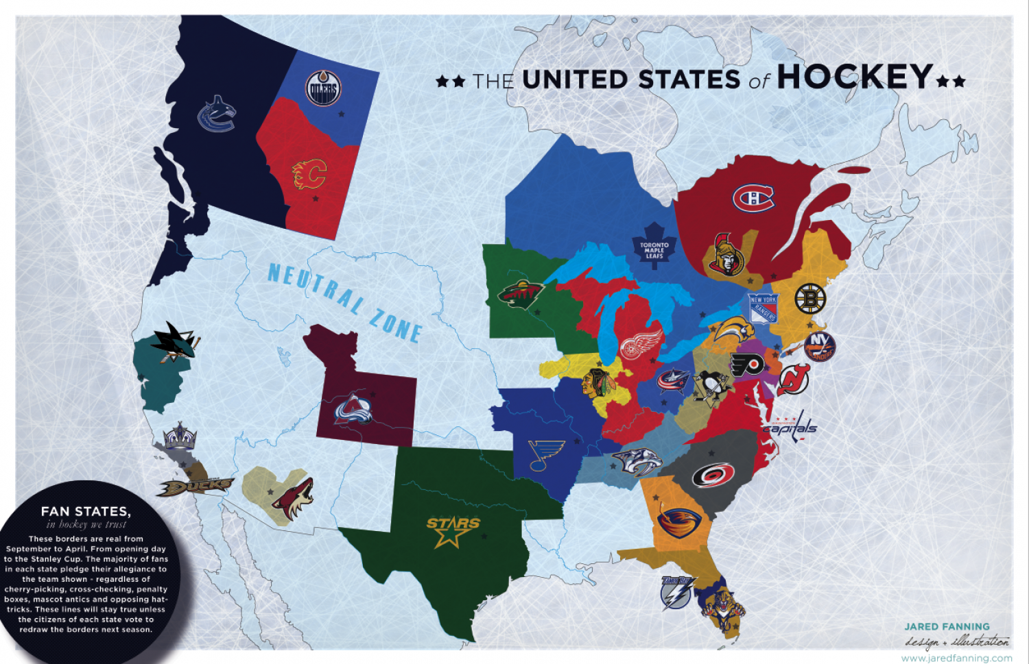 United States Of Hockey Visually - Map-of-sports-teams-in-us