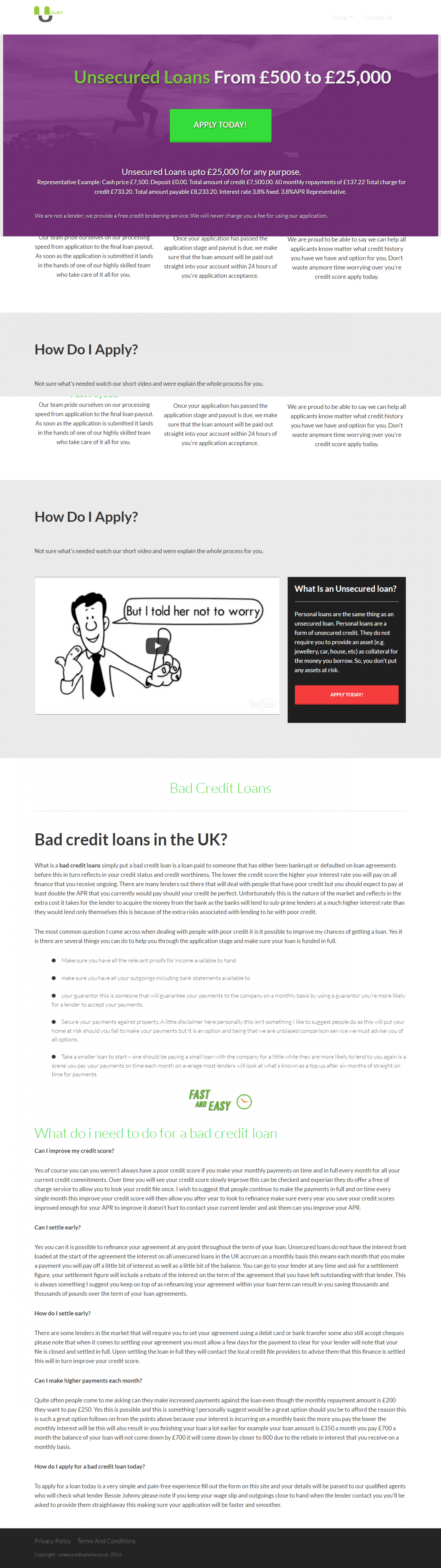 Unsecured Loans 4u Infographics Infographic