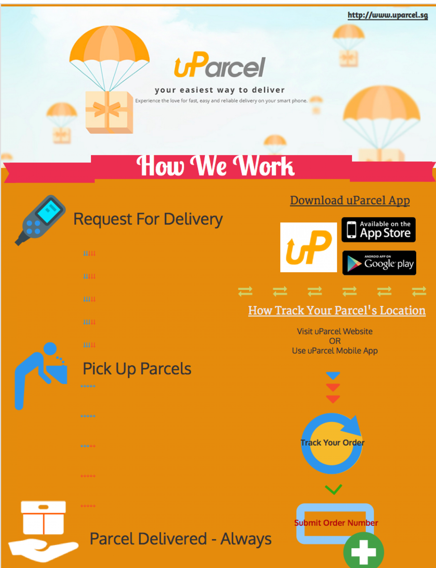uParcel - Parcel and courier delivery service in Singapore