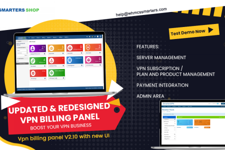 UPDATED AND REDESIGNED VPN BILLING PANEL Infographic