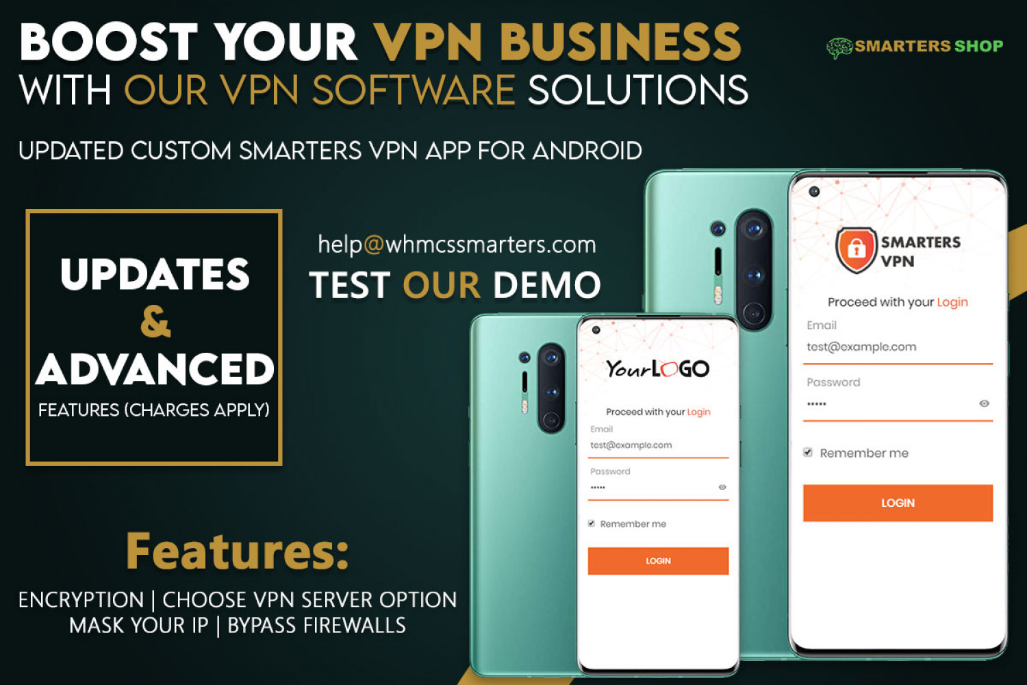 UPDATED CUSTOM SMARTERS VPN APP FOR ANDROID Infographic