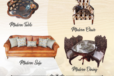 Upgrade Your Home with Stylish Furniture made with Arabic Design Infographic