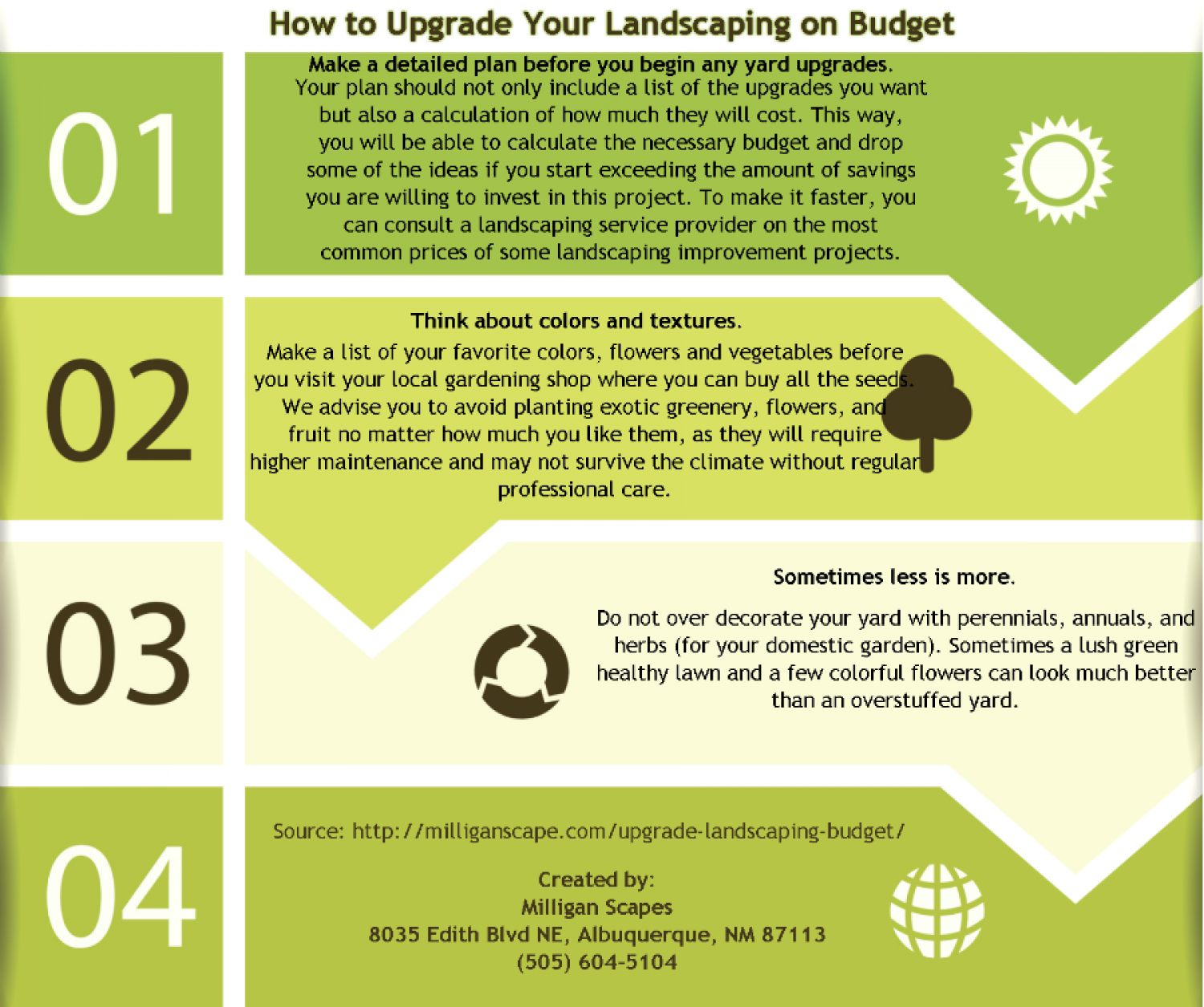 How to Upgrade Your Landscaping on Budget Infographic