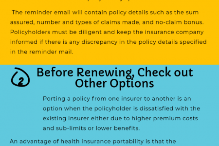 3 things to consider at the time of health insurance renewal Infographic