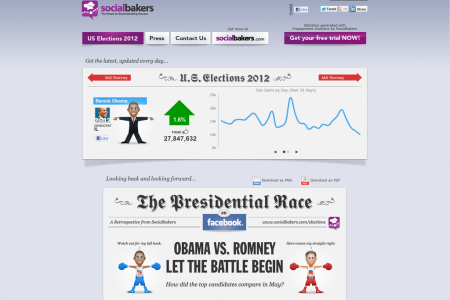 US Elections 2012 Infographic